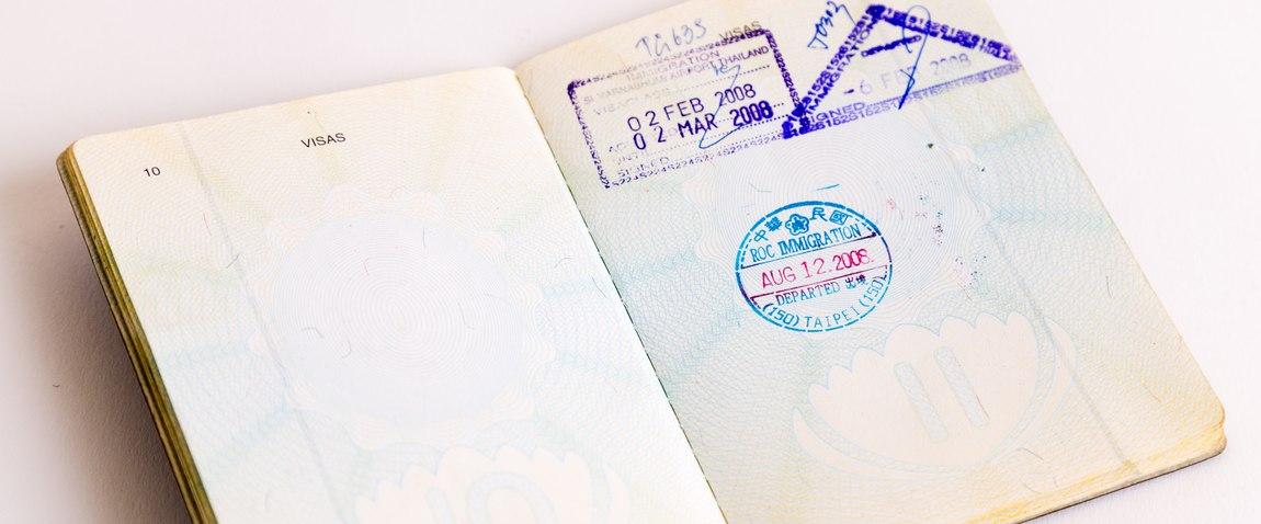 visa and customs stamps