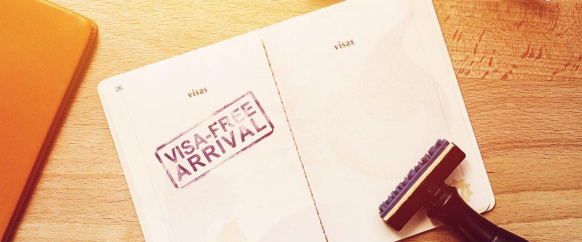 visa free arrival stamp