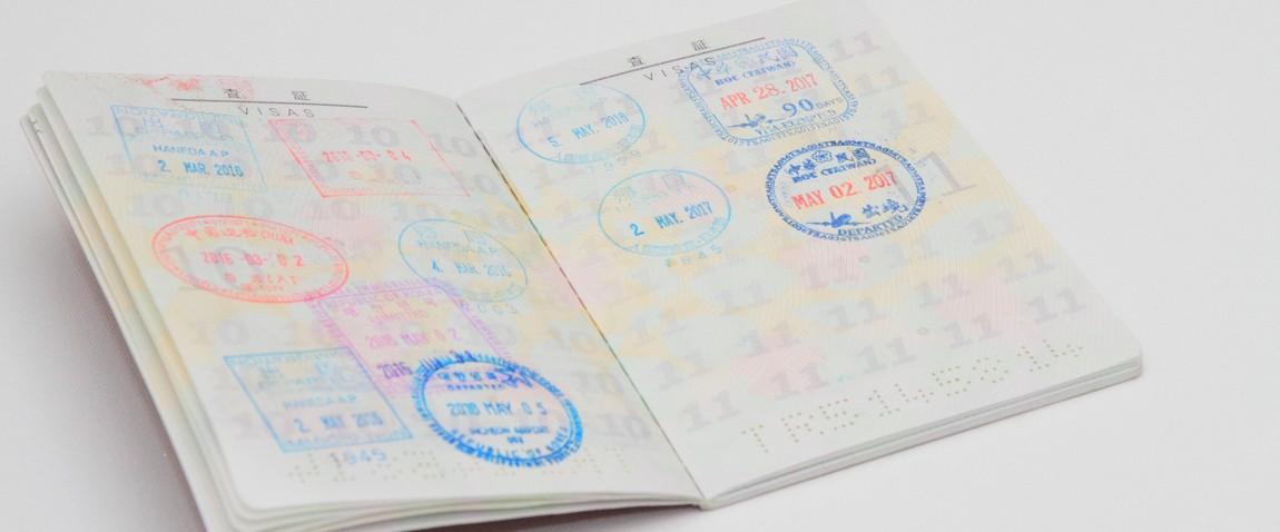 visa stamps on japanese passport