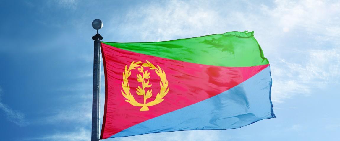 waving eritrean flag