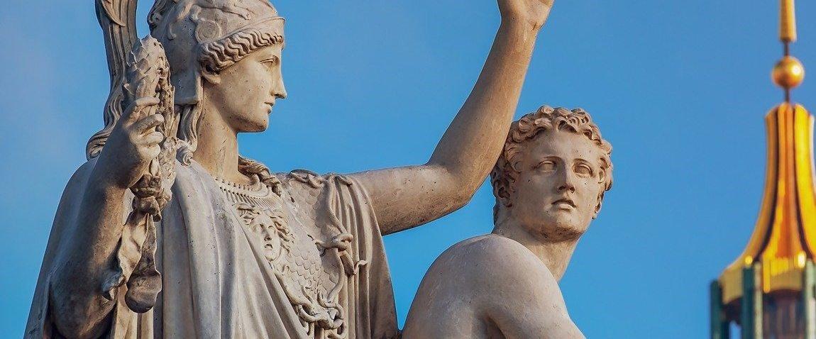 white stone statues