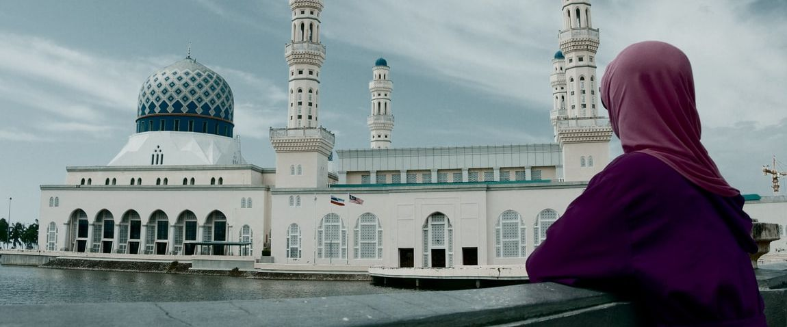 woman and mosque