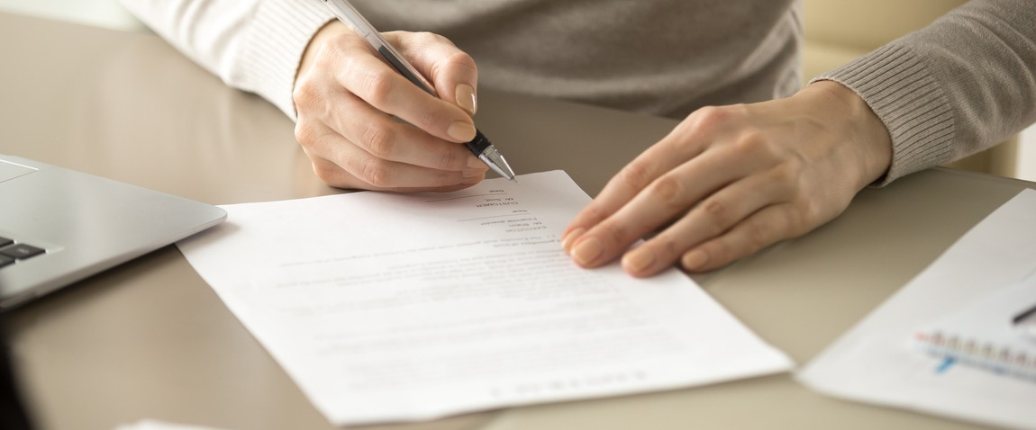 woman signing