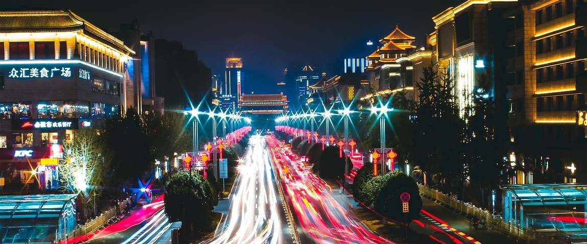 Xi'an city night view