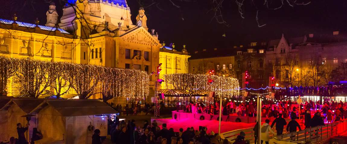 art pavilion during christmas celebration